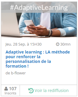 Replay webinar Adaptive learning