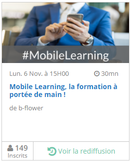 Replay webinar Mobile Learning